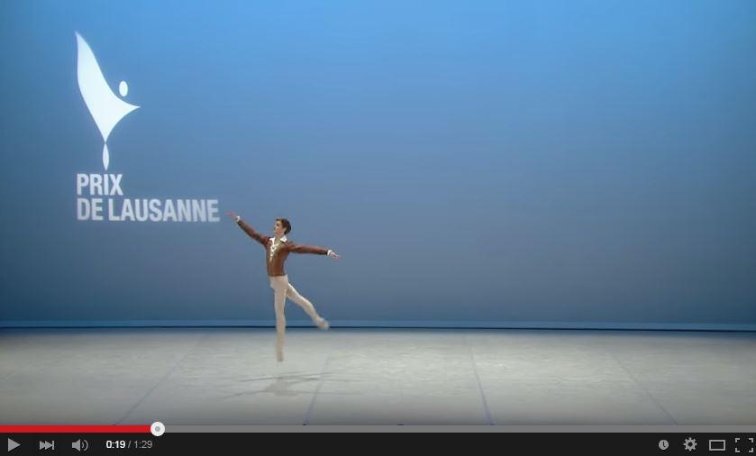 Harrison Lee at world ballet awards