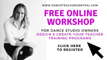 Sign up for your free dance teachers training now